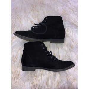 Forever 21 Black Lace Up Ankle Booties